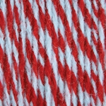 Bernat Super Value Team Colors Yarn - Red & White