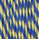Bernat Super Value Team Colors Yarn - Royal & Gold