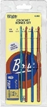 Boye Aluminum Crochet Hook Bonus Set - Size F, G, H And I Plus Bonus Scissors