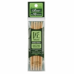 "Clover Bamboo Double Point Knitting Needles 5"" 5/Pkg - Size 10 (6mm)"