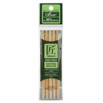"Clover Bamboo Double Point Knitting Needles 5"" 5/Pkg - Size 10.5 (6.5mm)"