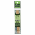 "Clover Bamboo Double Point Knitting Needles 5"" 5/Pkg - Size 2 (2.75mm)"