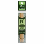 "Clover Bamboo Double Point Knitting Needles 5"" 5/Pkg - Size 3 (3.25mm)"