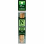 "Clover Bamboo Double Point Knitting Needles 5"" 5/Pkg - Size 4 (3.5mm)"