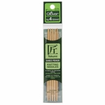 "Clover Bamboo Double Point Knitting Needles 5"" 5/Pkg - Size 5 (3.75mm)"
