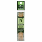 "Clover Bamboo Double Point Knitting Needles 5"" 5/Pkg - Size 6 (4mm)"