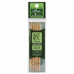 "Clover Bamboo Double Point Knitting Needles 5"" 5/Pkg - Size 8 (5mm)"