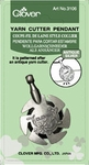 Clover Yarn Cutter Pendant-Antique Silver