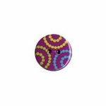 Confetti Minis Button - Dots on Pink 3 pack