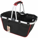 JanetBasket Large Aluminum Frame Basket - Black and Red