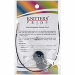 "Knitters Pride Interchangeable Cord 11"" Black (20"" w/tips)"