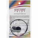 "Knitters Pride Interchangeable Cord 14"" Black (24"" w/tips)"