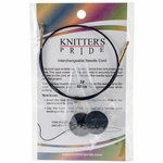 "Knitters Pride Interchangeable Cord 14"" Black W/Gold Plated Connectors (24"" w/tips)"