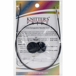 "Knitters Pride Interchangeable Cord 22"" Black (32"" w/tips)"
