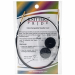 "Knitters Pride Interchangeable Cord 22"" Black W/Gold Plated Connectors (32"" w/tips)"