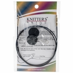 "Knitters Pride Interchangeable Cord 30"" Black W/Gold Plated Connectors (40"" w/tips)"