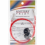 "Knitters Pride Interchangeable Cord 30"" Red (40"" w/tips)"