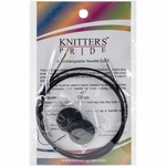 "Knitters Pride Interchangeable Cord 37"" Black (47"" w/tips)"