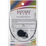 "Knitters Pride Interchangeable Cord 8"" Black (16"" w/tips)"