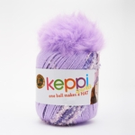 Lion Brand Keppi Yarn - Grape Jelly - Sparkle