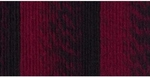 Lion Brand Scarfie Yarn - Cranberry/Black