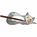 Paradise Exotic - Cat Inlaid Mother of Pearl Shawl Pin