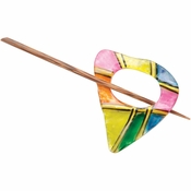 Paradise Exotic - Rainbow Capiz Shell Shawl Pin