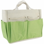 "Project Tote - Lime & Ecru 9.5""X8.5""X5"""
