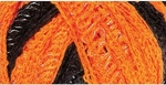 Red Heart Boutique Sashay Team Spirit Yarn - Orange/Black