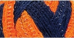 Red Heart Boutique Sashay Team Spirit Yarn - Orange/Navy
