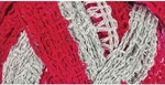 Red Heart Boutique Sashay Team Spirit Yarn - Red/Grey