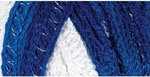 Red Heart Boutique Sashay Team Spirit Yarn - Royal/White