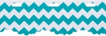 Red Heart Boutique Sassy Fabric Yarn - Teal Chevron