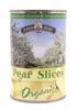 Organic Canned Pears (Slices) - 12 / 15 OZ cans - OUT OF STOCK