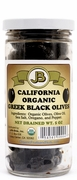 Organic Sun Dried - GREEK BLACK OLIVES - 12/ 5 oz Jars