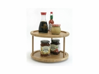 2 Tier Bamboo Lazy Susan