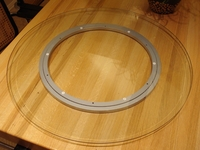 "36"" Glass Lazy Susan Turntable"