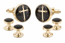 14 karat Christian Formal Cufflink Set