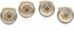 4 Masonic Button Covers