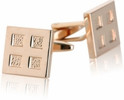 4 Square Rose Gold Cufflinks