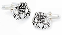 925 Sterling Silver Claddagh Cufflinks
