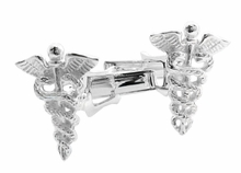 925 Sterling Silver Medical Symbol Cuff Links