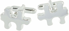 925 Sterling Silver Puzzle Piece Cufflinks