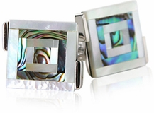 Abalone Bulls Eye Cufflinks