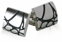 Abstract Stainless Steel Cufflinks