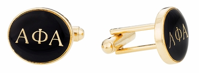 Alpha Phi Alpha Black Gold Cufflinks