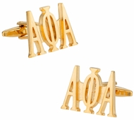 Alpha Phi Alpha Cufflinks in Gold