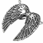 Angel Wings Pendant in Stainless Steel