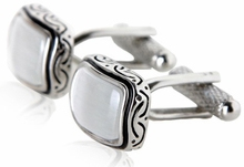 Antiqued White Cufflinks