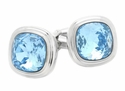 Aquamarine Crystal Cufflinks